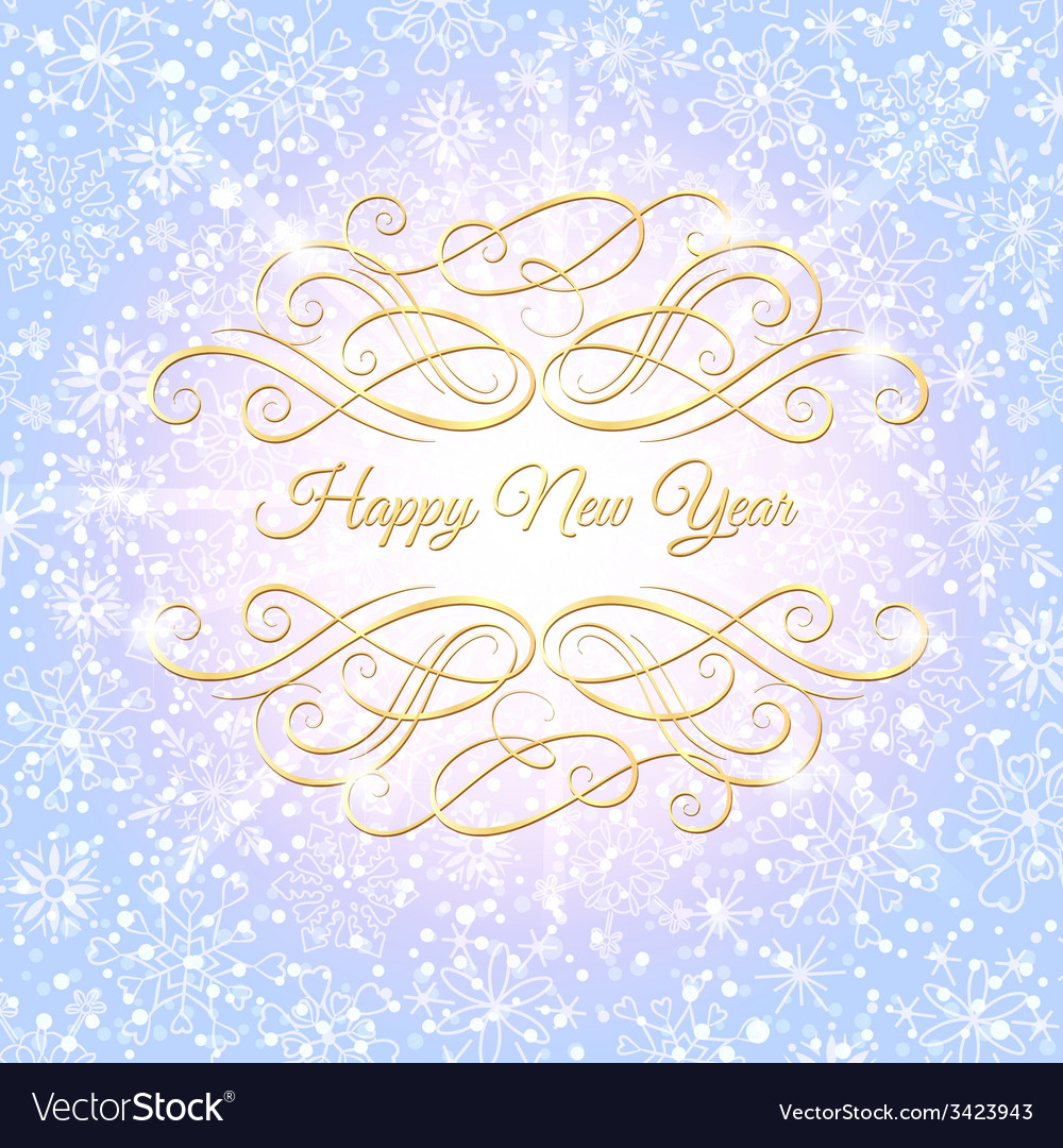 Christmas and new year background greeting card vector | Price: 1 Credit (USD $1)
