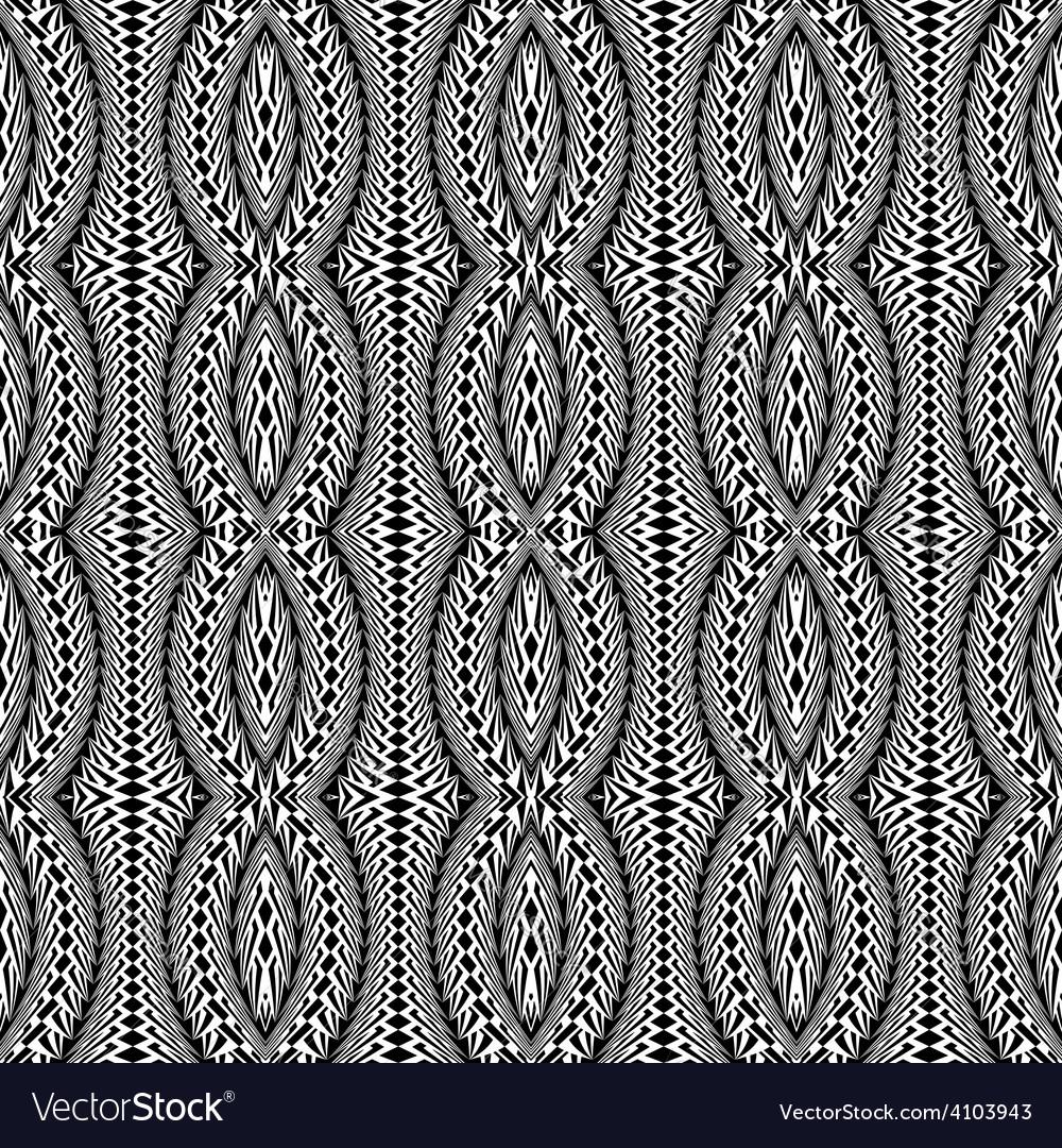 Design seamless monochrome stripy pattern vector | Price: 1 Credit (USD $1)