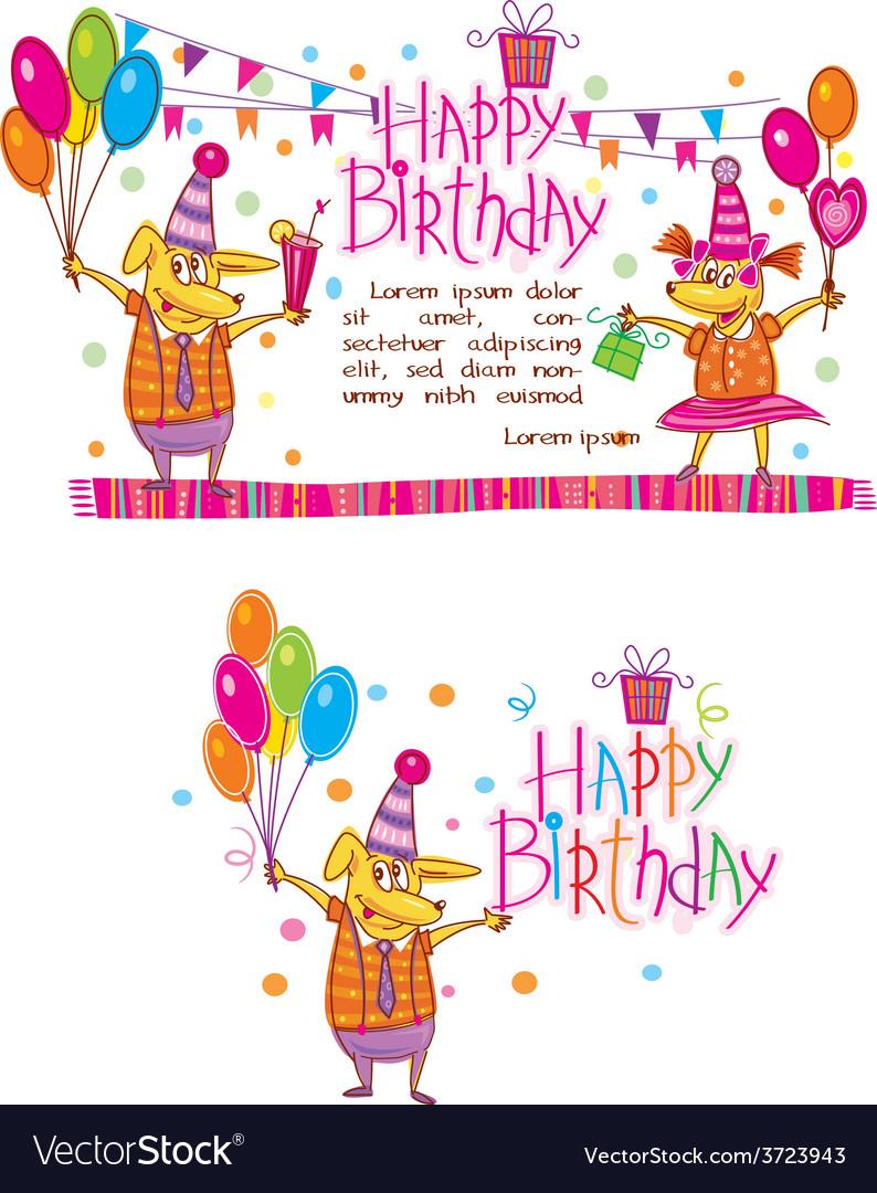 Happy birthday cards vector | Price: 1 Credit (USD $1)