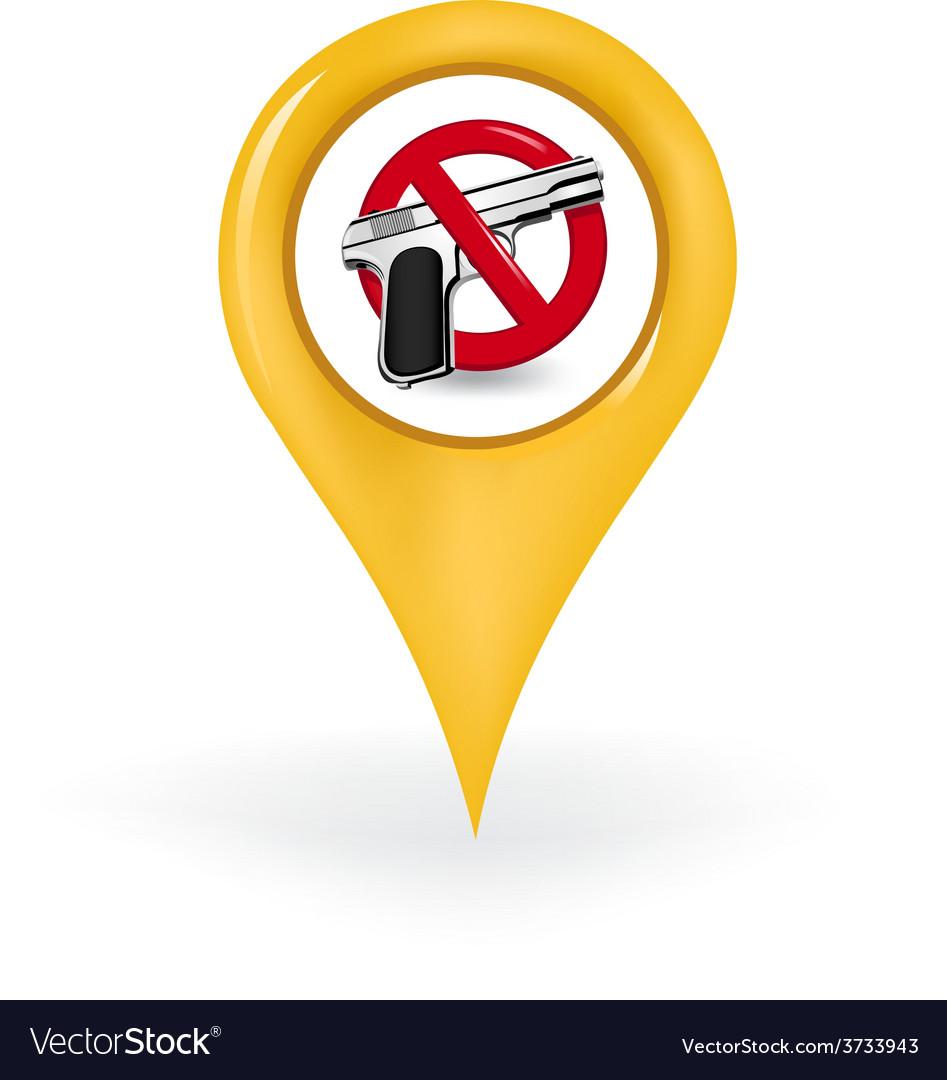 No guns location vector | Price: 1 Credit (USD $1)