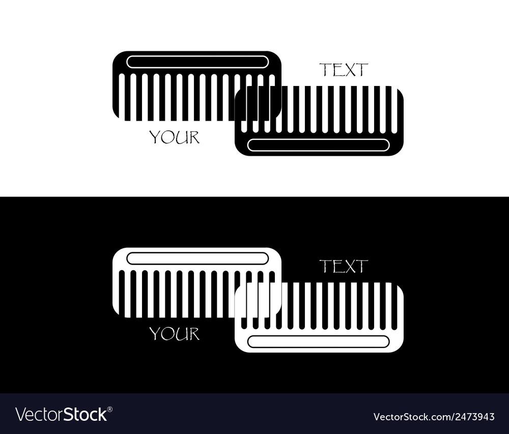 Set of comb vector | Price: 1 Credit (USD $1)