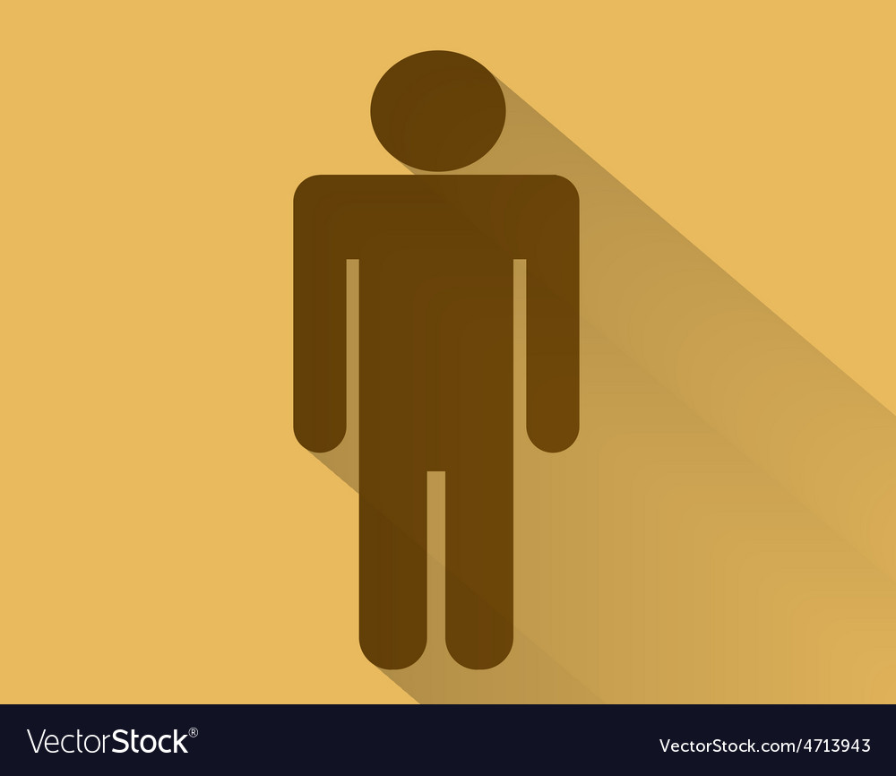 Sign of men flat long shadow vector | Price: 1 Credit (USD $1)
