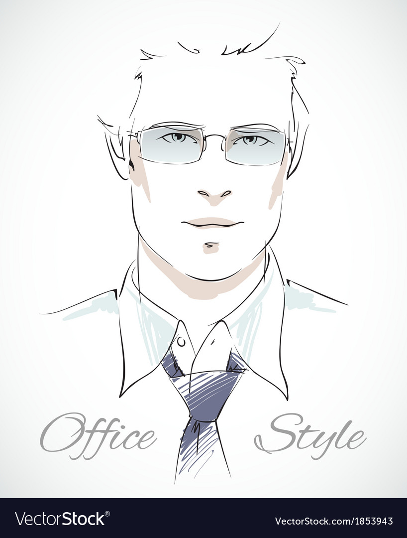 Stylish businessman portrait vector | Price: 1 Credit (USD $1)