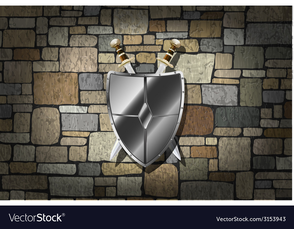 Swords on the wall vector | Price: 1 Credit (USD $1)