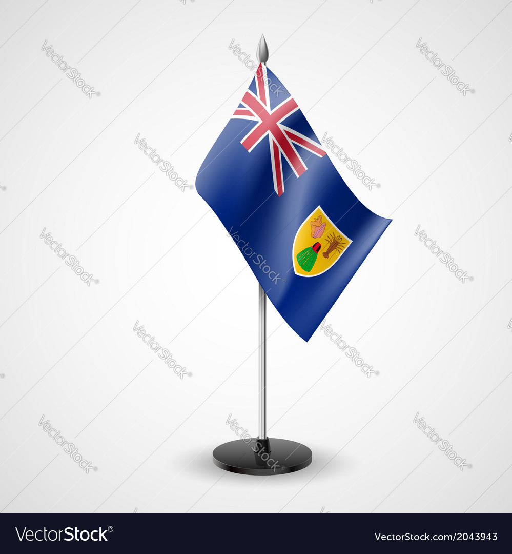 Table flag of the turks and caicos islands vector | Price: 1 Credit (USD $1)