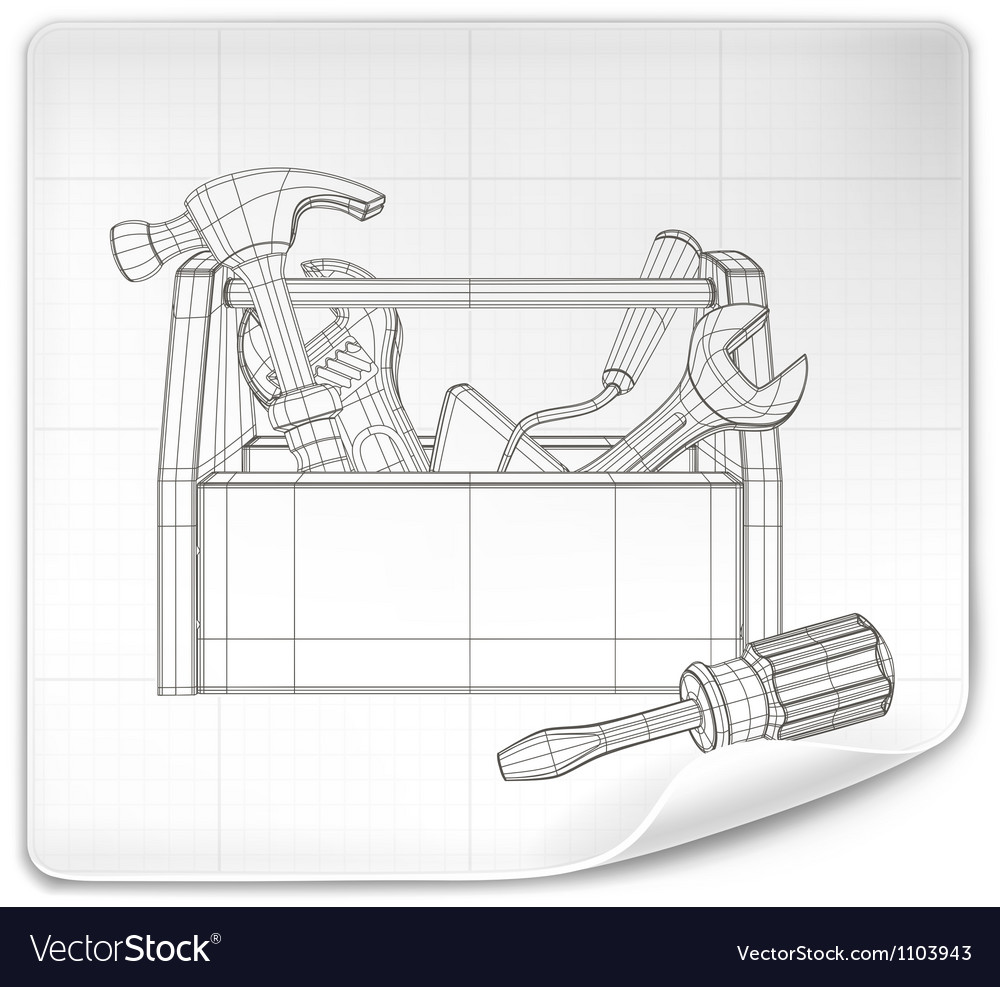 Tool box drawing vector | Price: 1 Credit (USD $1)
