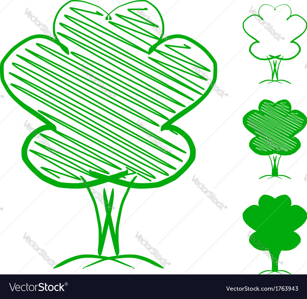 Tree hand drawn sketch vector | Price: 1 Credit (USD $1)