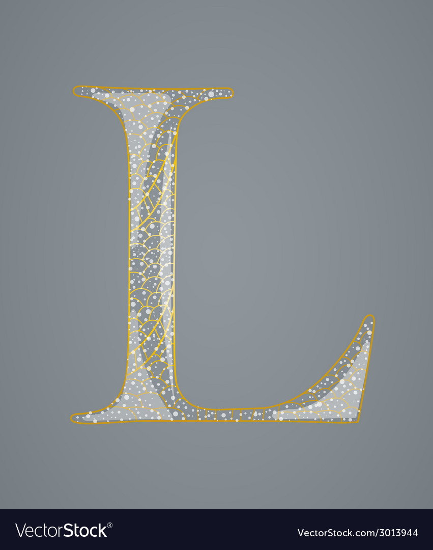 Abstract golden letter l vector | Price: 1 Credit (USD $1)