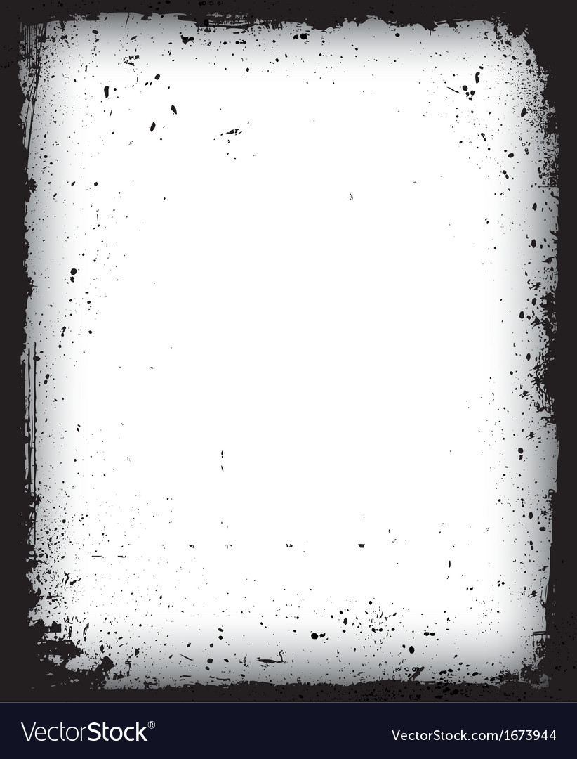 Black grunge frame isolated vector | Price: 1 Credit (USD $1)