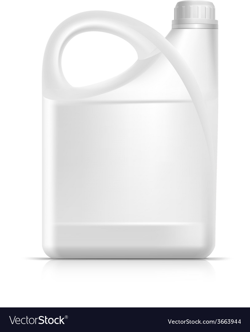 Blank plastic jerrycan canister gallon oil vector | Price: 1 Credit (USD $1)