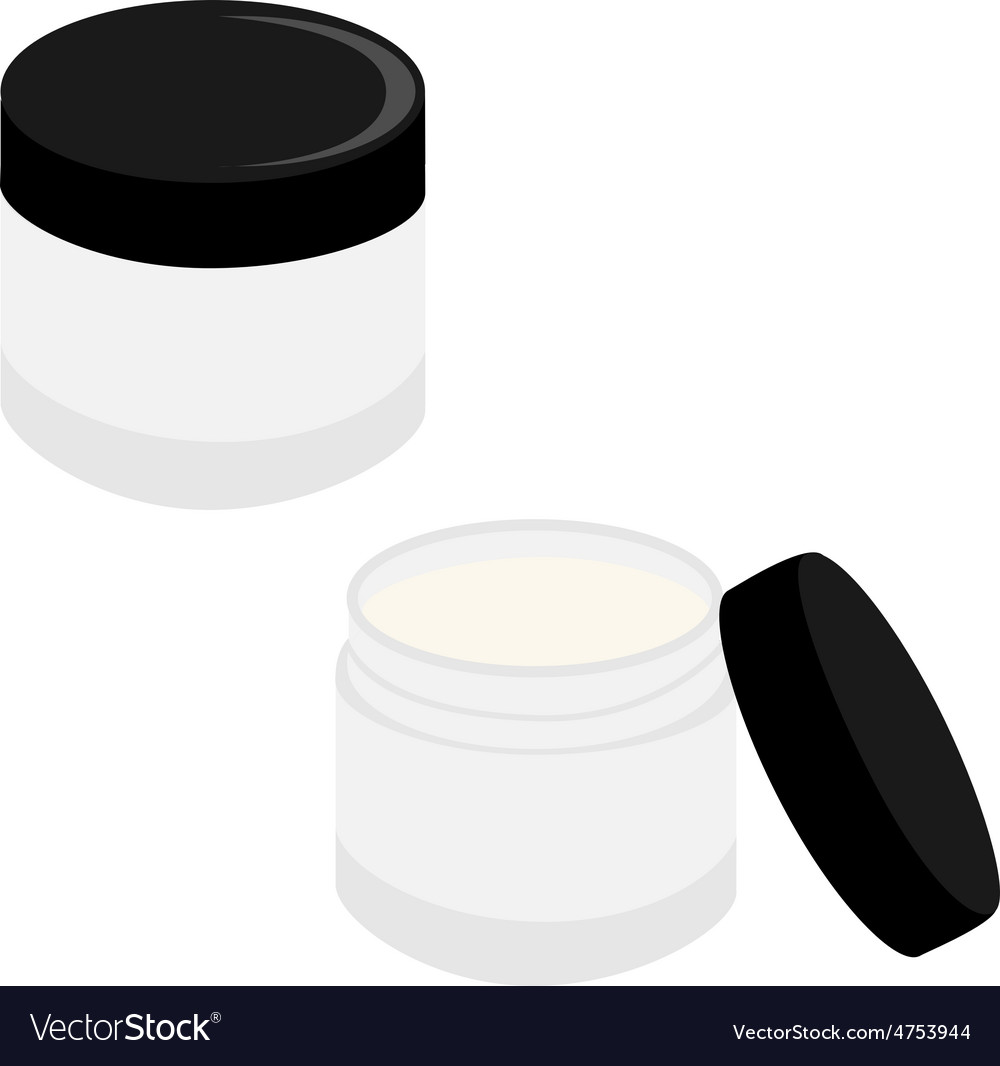 Closed and opened cream vector | Price: 1 Credit (USD $1)