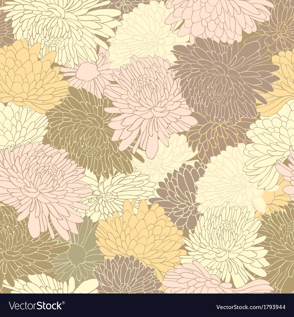 Floral pattern background with chrysanthemum vector | Price: 1 Credit (USD $1)