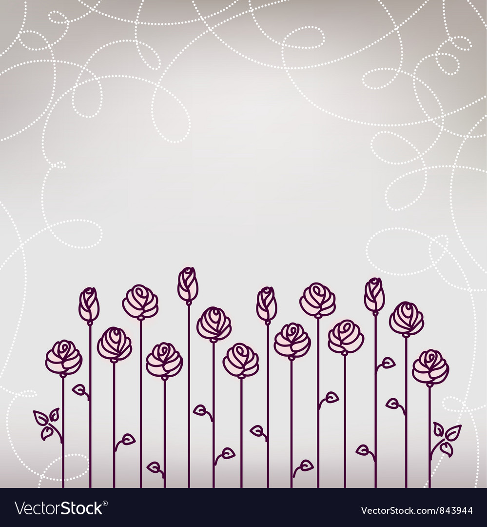 Flower roses wedding background vector | Price: 1 Credit (USD $1)