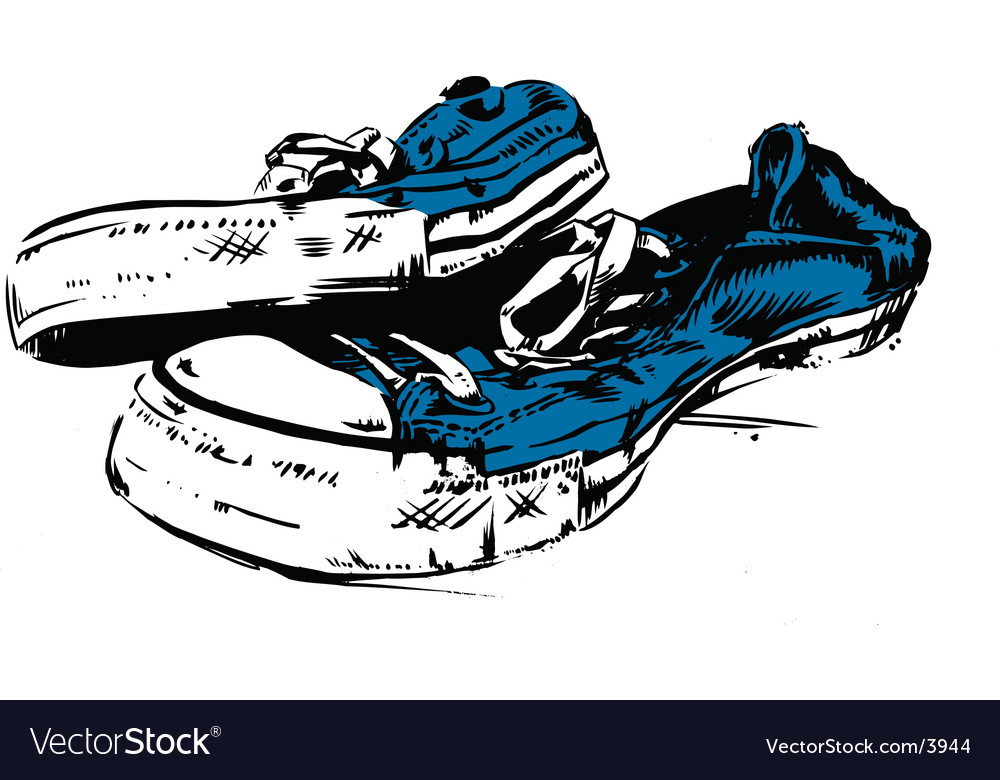 Old school trainers vector | Price: 1 Credit (USD $1)