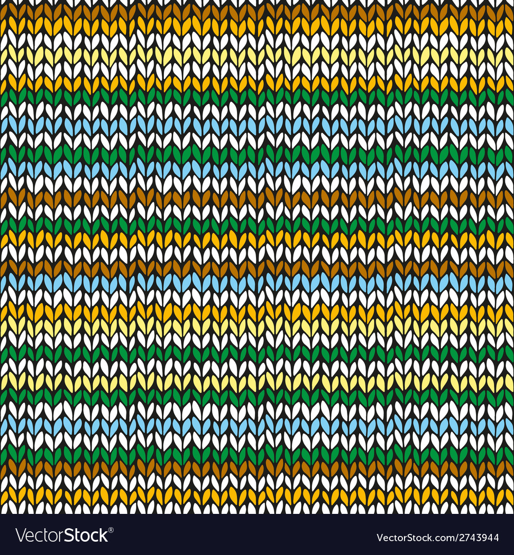 Seamless pattern with colorful hand drawn knitted vector   Price: 1 Credit (USD $1)