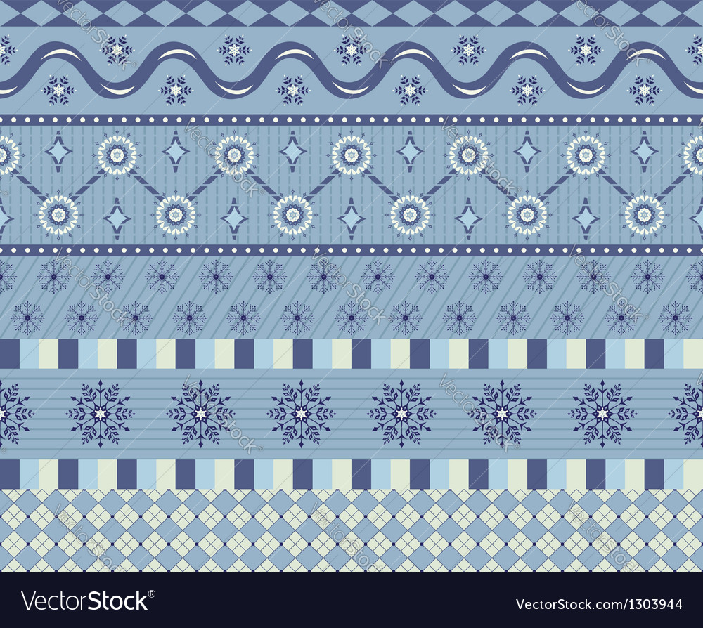 Snowflake border vector | Price: 1 Credit (USD $1)