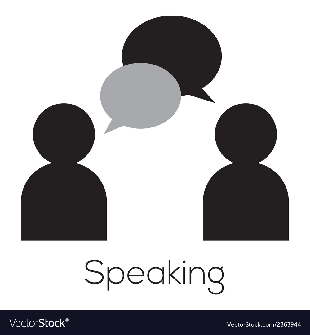Speaking icon vector | Price: 1 Credit (USD $1)