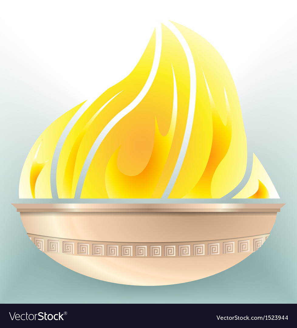 Stadium olympic fire vector | Price: 1 Credit (USD $1)
