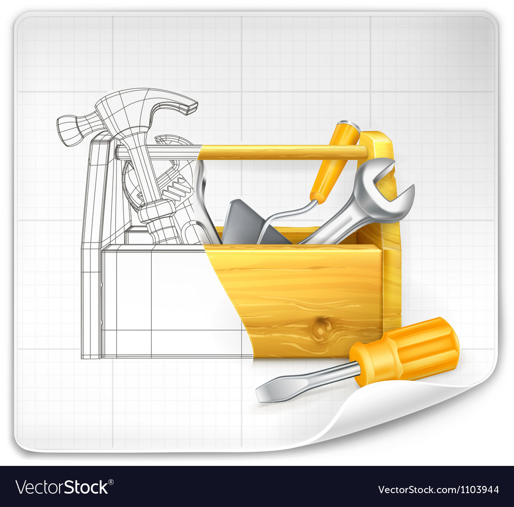 Tool box drawing vector | Price: 3 Credit (USD $3)