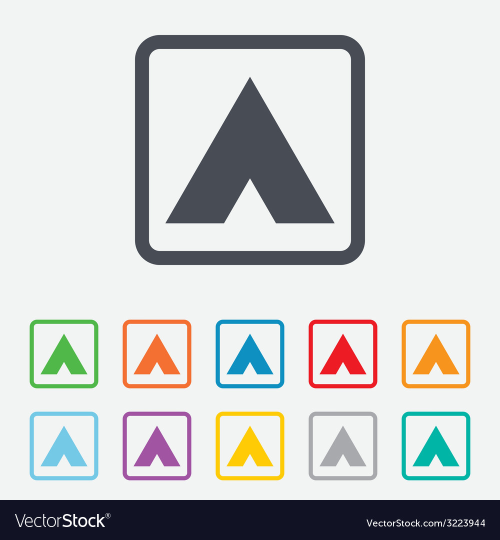 Tourist tent sign icon camping symbol vector | Price: 1 Credit (USD $1)