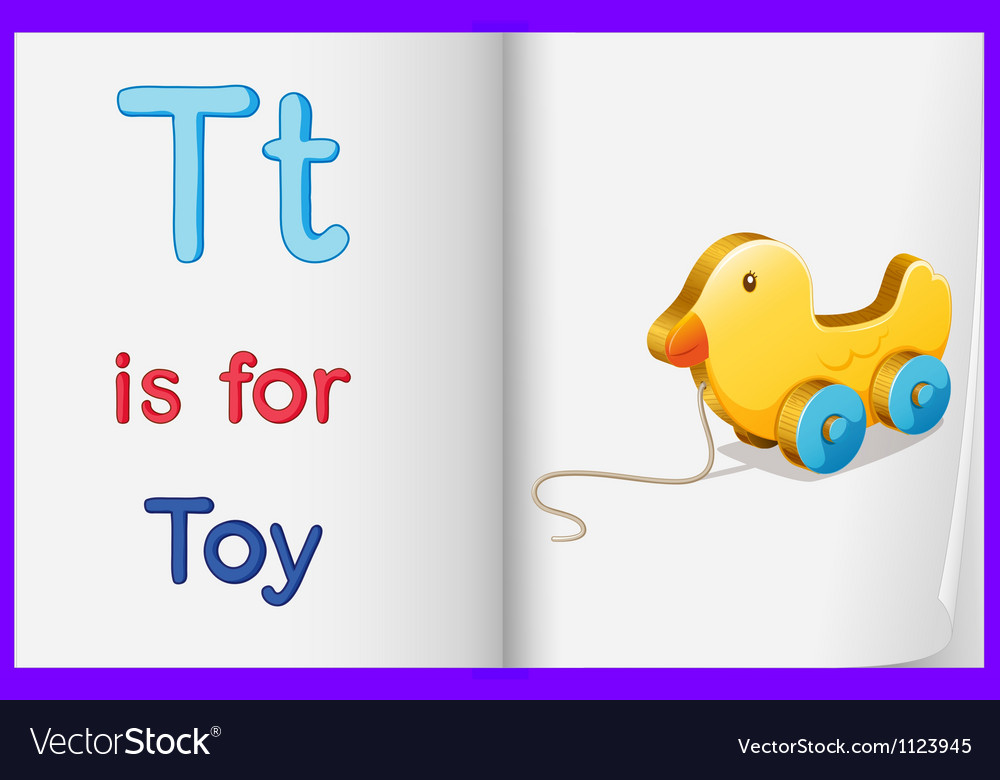 A picture of a toy in a book vector | Price: 1 Credit (USD $1)