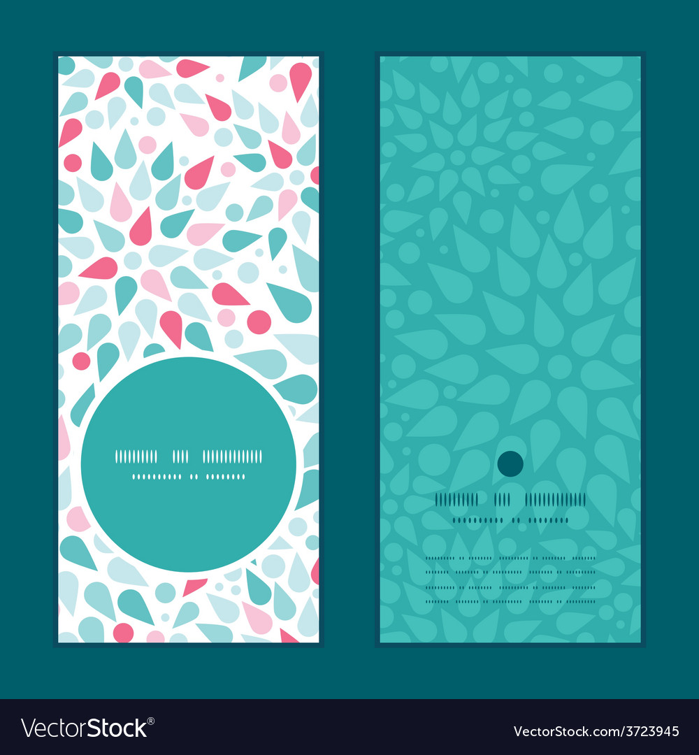 Abstract colorful drops vertical round vector | Price: 1 Credit (USD $1)