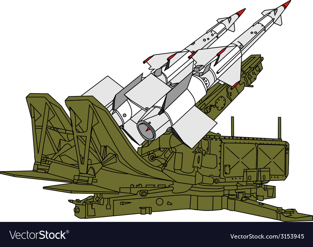 Air defense missile system vector | Price: 1 Credit (USD $1)