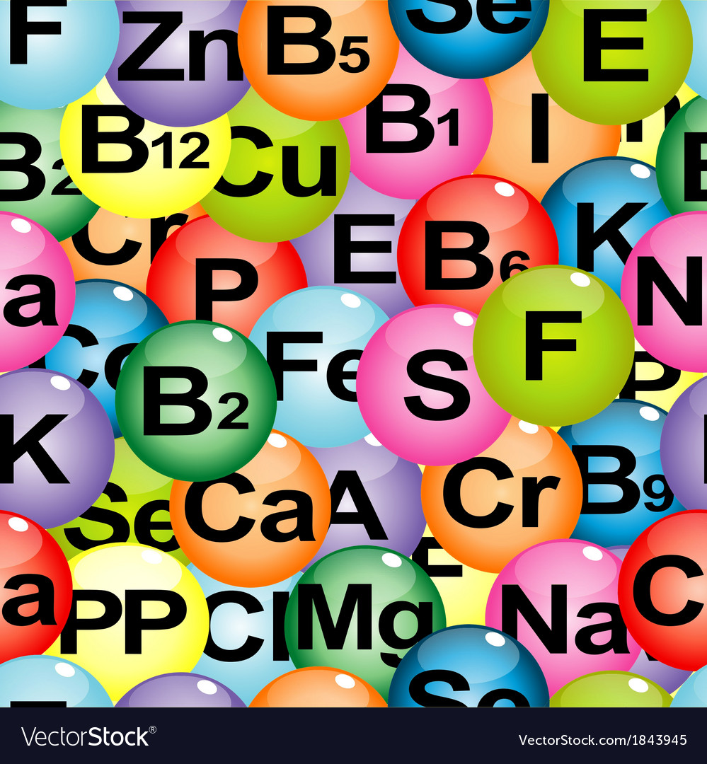 Background seamless with chemical formulas of vector | Price: 1 Credit (USD $1)
