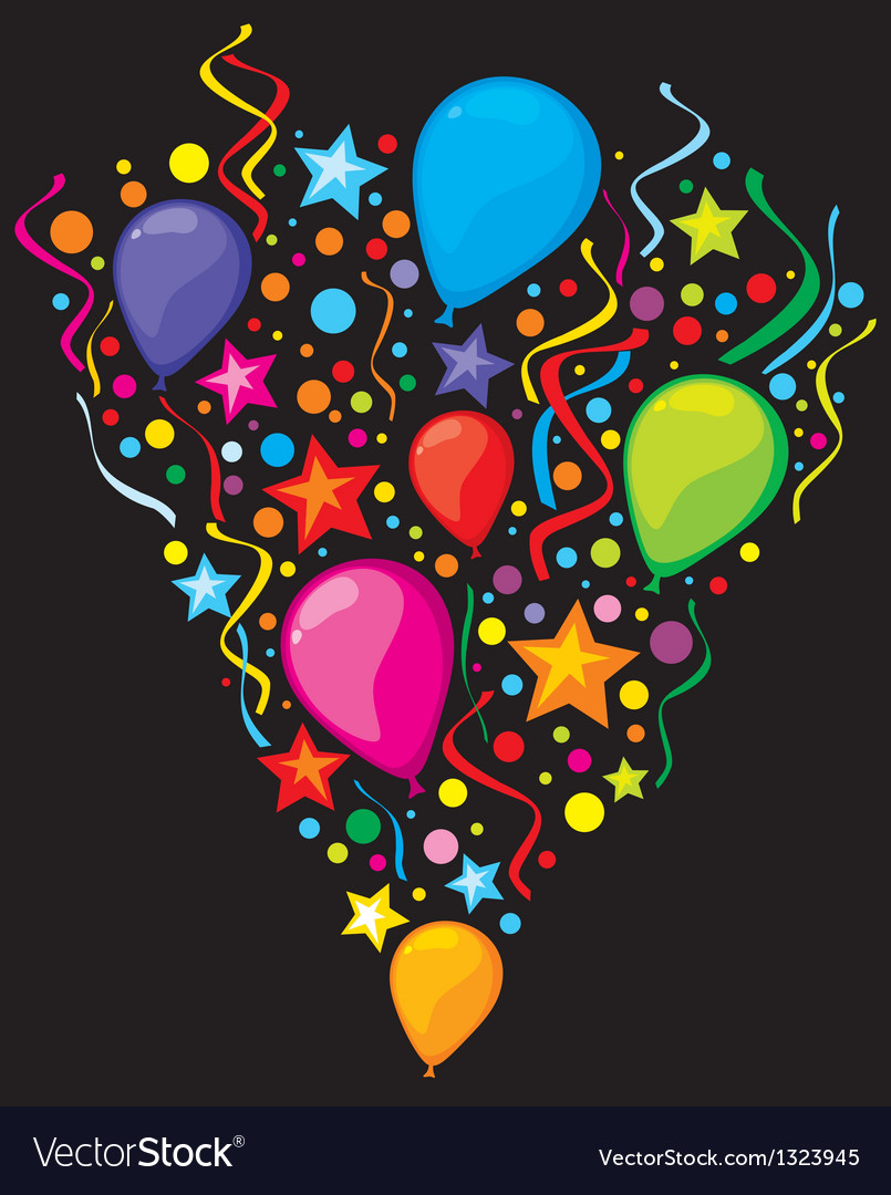 Balloons party balloons vector | Price: 1 Credit (USD $1)