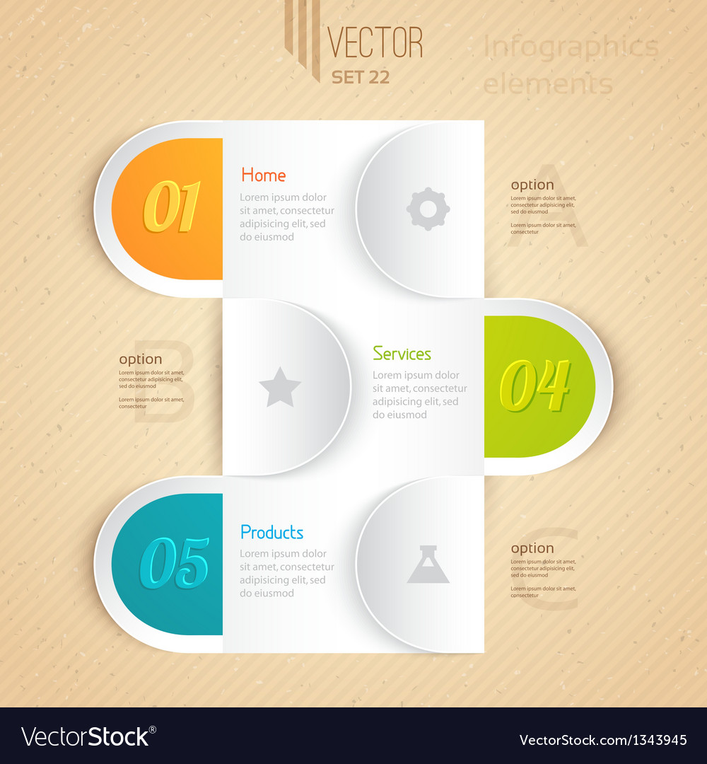 Business infographic tab vector | Price: 1 Credit (USD $1)