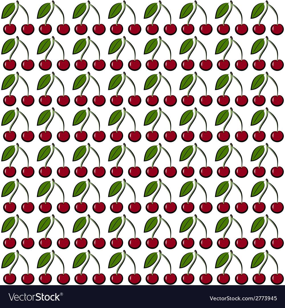 Cherry pattern vector | Price: 1 Credit (USD $1)