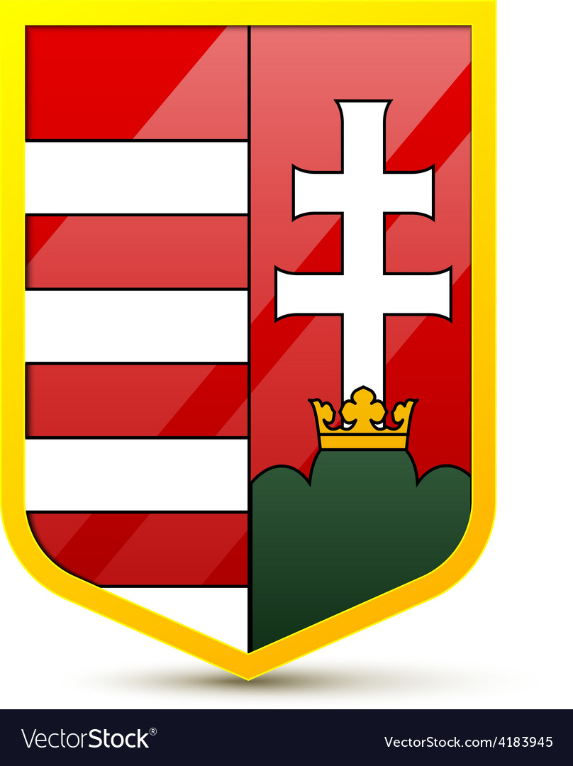 Coat of arms hungary vector | Price: 1 Credit (USD $1)