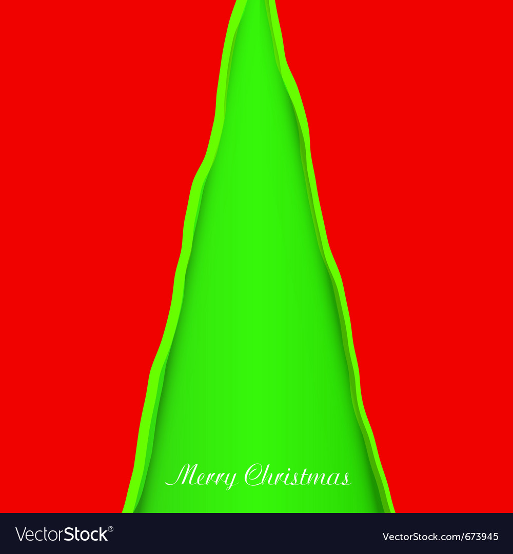 Creativity christmas tree vector | Price: 1 Credit (USD $1)