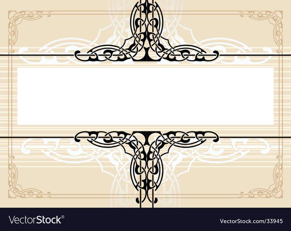 Decorative antique frame vector | Price: 1 Credit (USD $1)