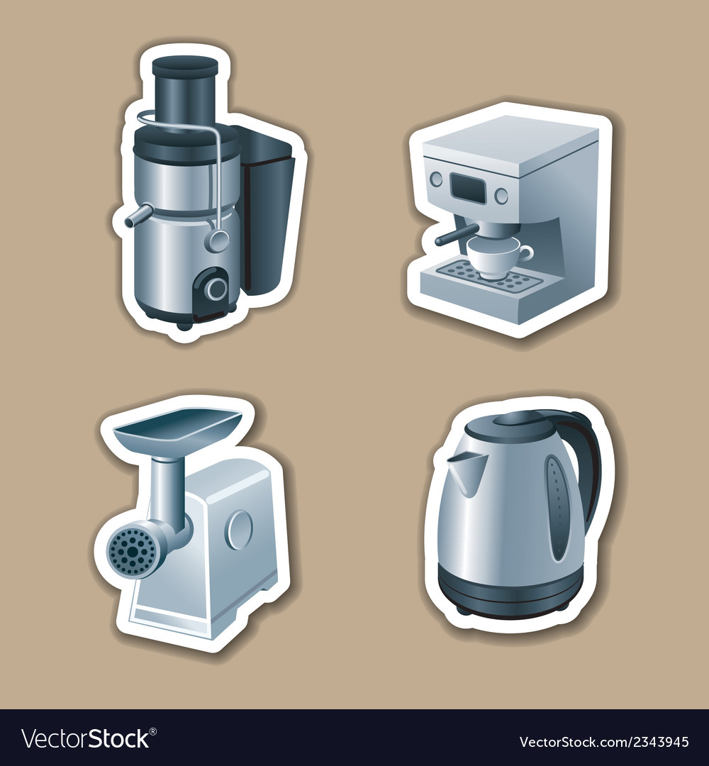 Kitchenware stickers vector | Price: 3 Credit (USD $3)