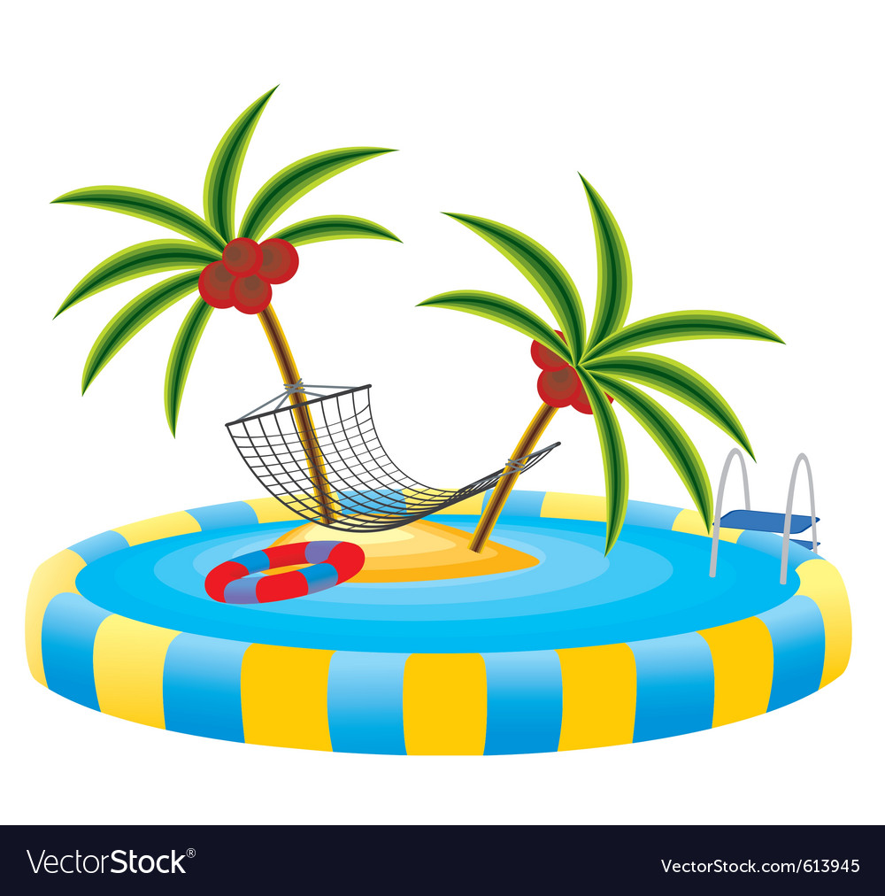 Outdoor pool vector | Price: 1 Credit (USD $1)