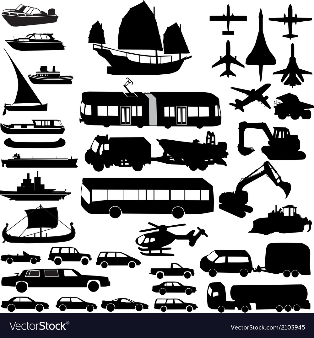 Transportation silhouette vector | Price: 1 Credit (USD $1)