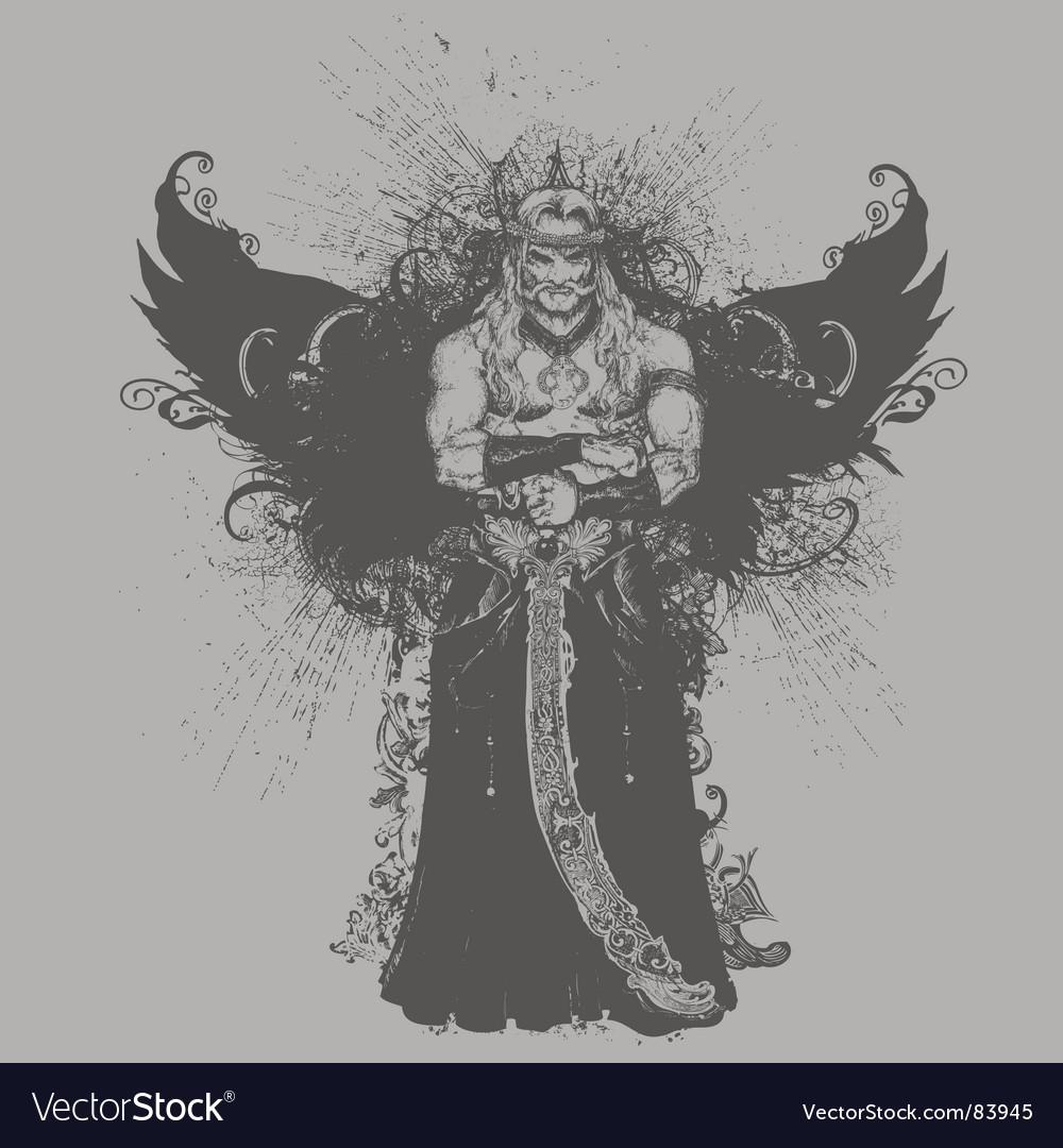 Winged warrior illustration vector   Price: 1 Credit (USD $1)