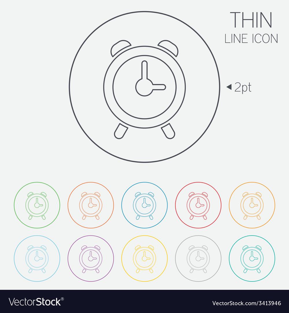 Alarm clock sign icon wake up alarm symbol vector | Price: 1 Credit (USD $1)