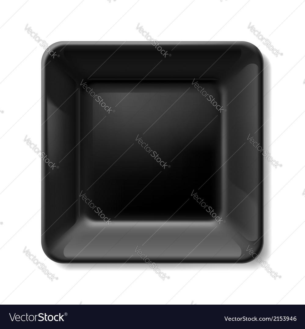Black plate vector | Price: 1 Credit (USD $1)