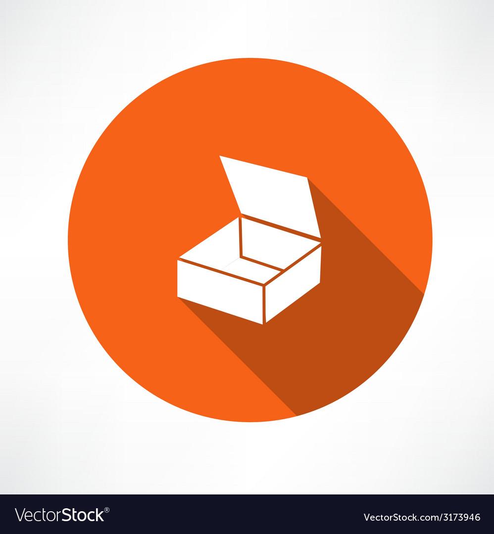 Empty box icon vector | Price: 1 Credit (USD $1)