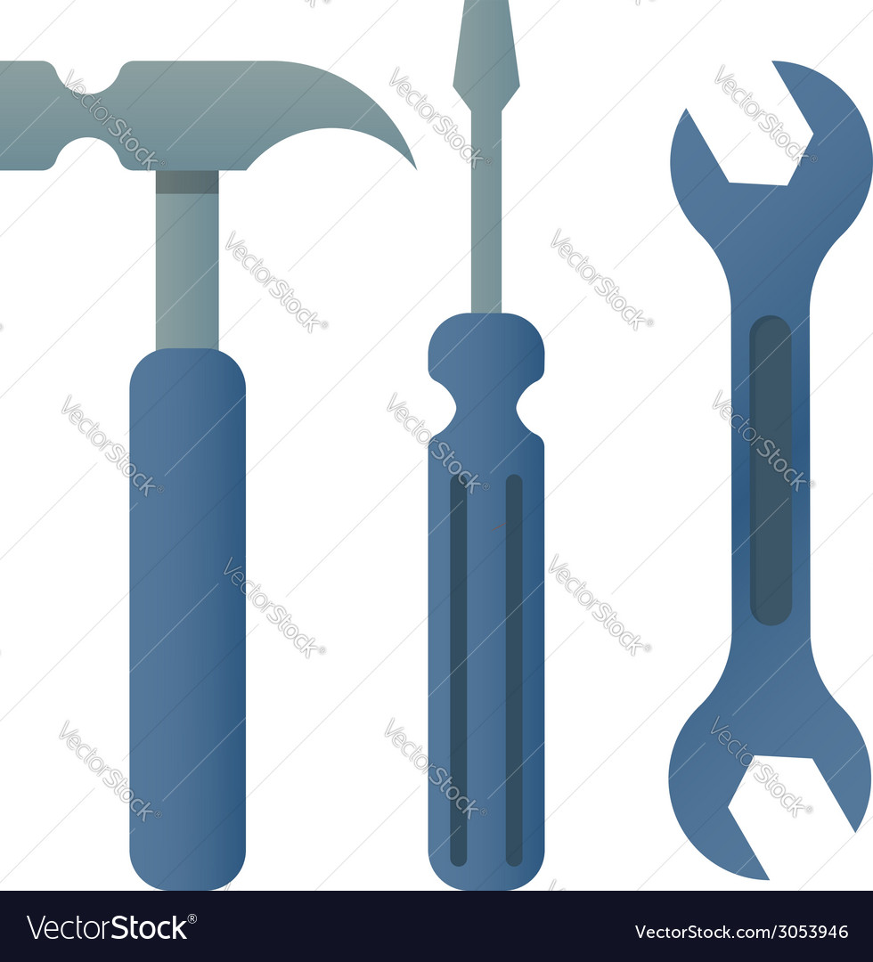 Hammer turnscrew tools icon vector | Price: 1 Credit (USD $1)