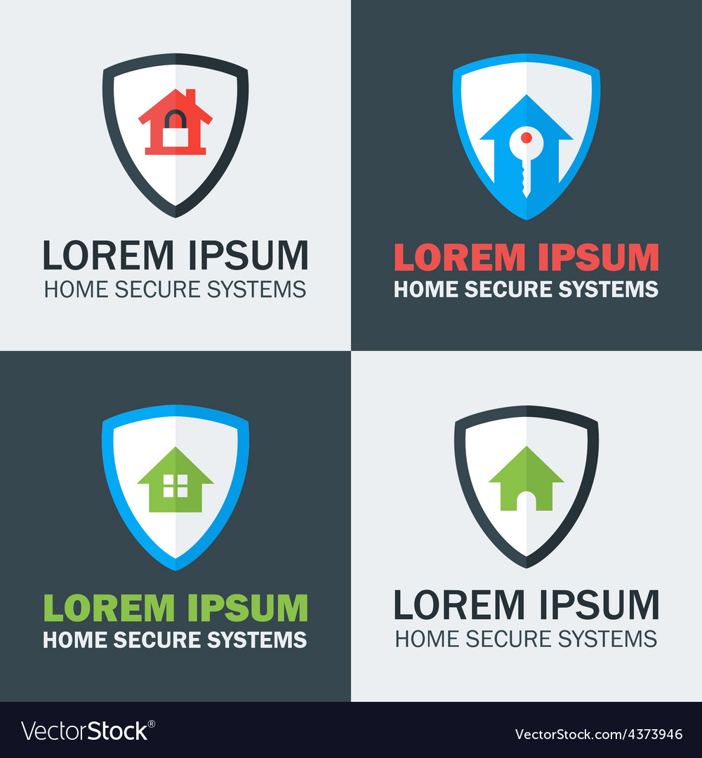 Home security with shield logo design concepts vector | Price: 1 Credit (USD $1)