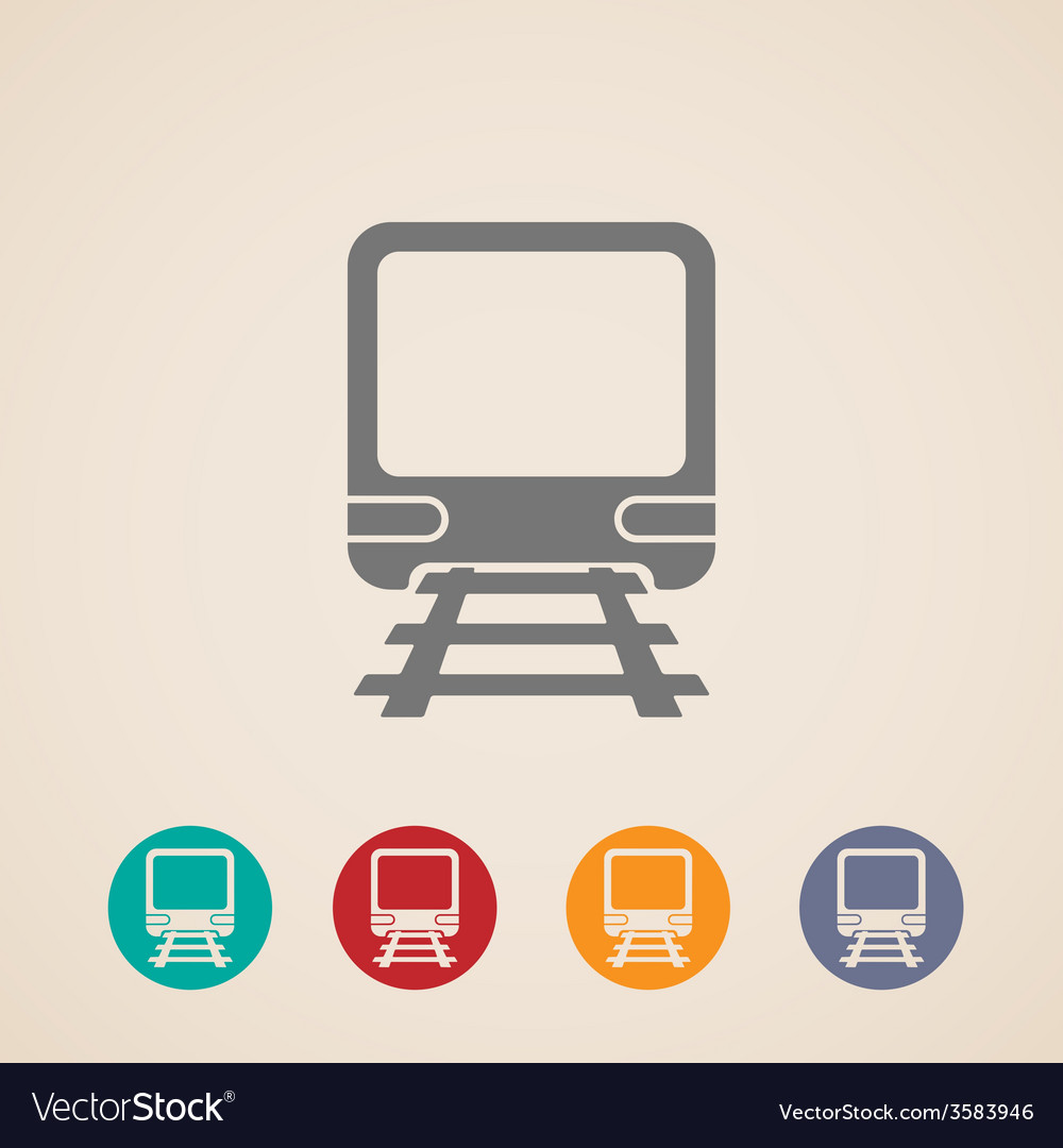 Icon of train metro underground or subway train vector | Price: 1 Credit (USD $1)