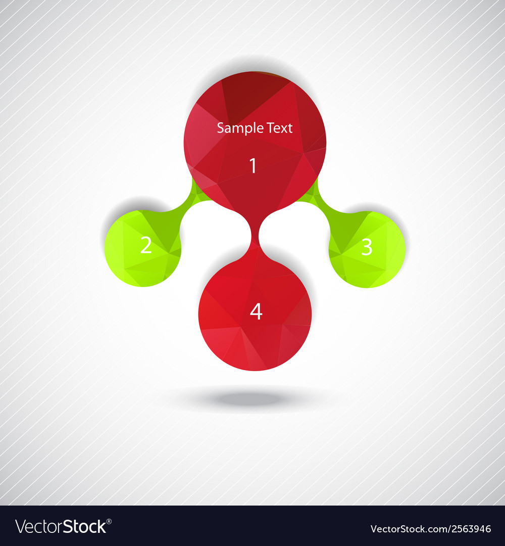 Metaball colorful round diagram infographics vector | Price: 1 Credit (USD $1)