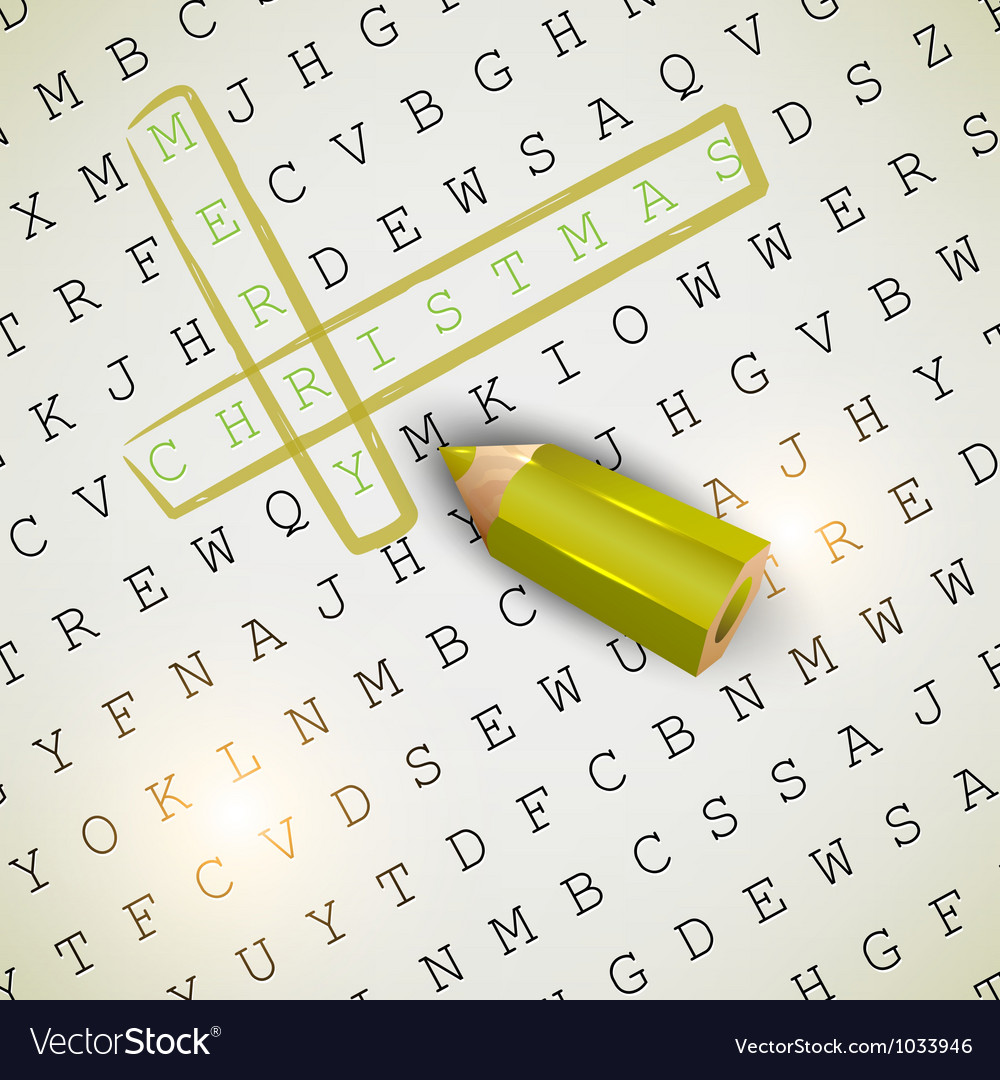 Solution of puzzletext  merry christmas vector | Price: 1 Credit (USD $1)