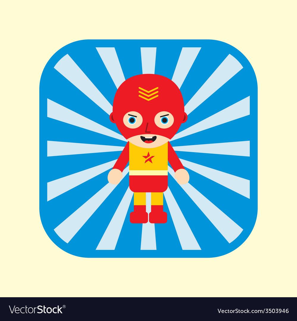Superhero cartoon vector | Price: 1 Credit (USD $1)