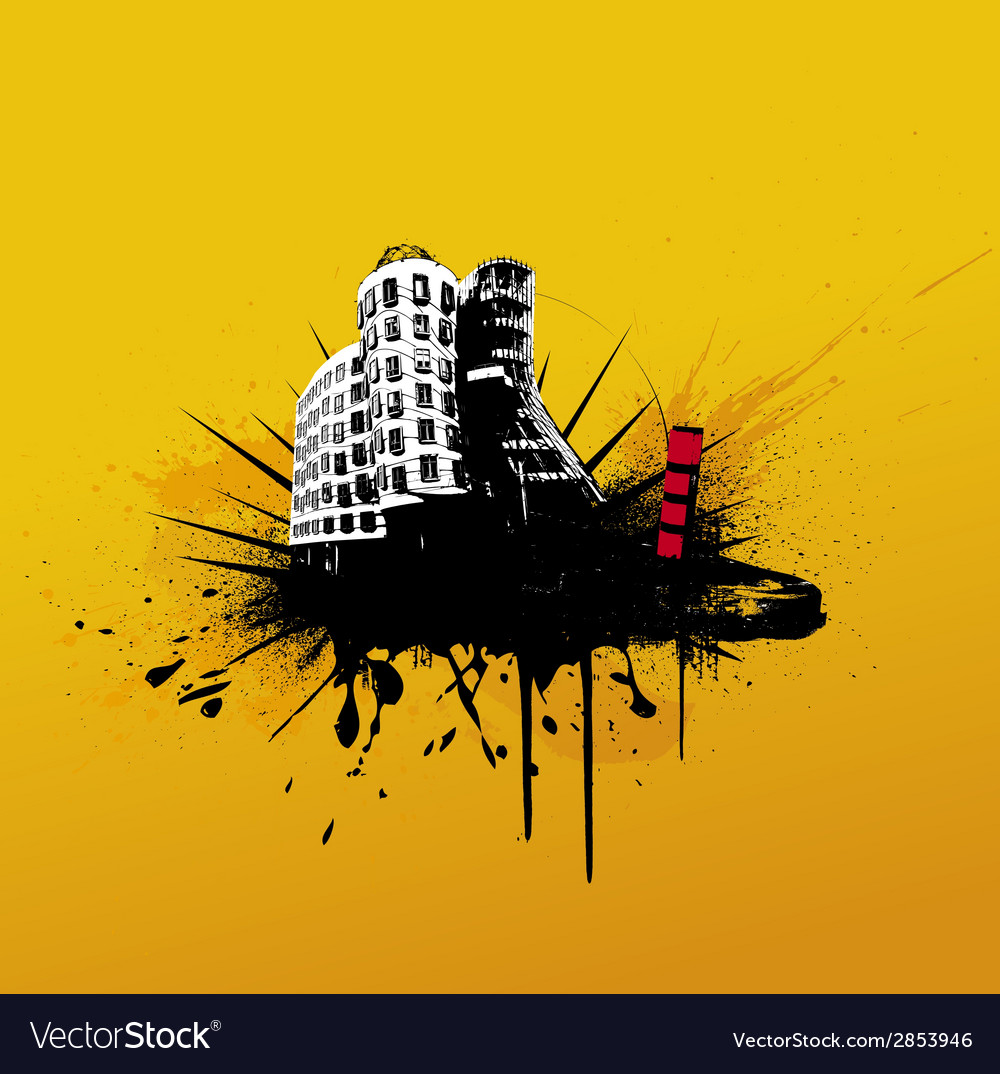 With city vector | Price: 1 Credit (USD $1)