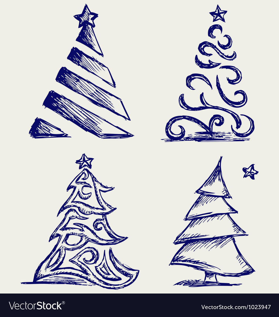 Abstract christmas tree vector | Price: 1 Credit (USD $1)