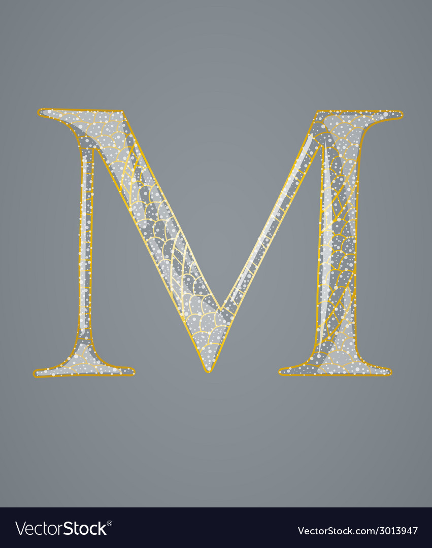 Abstract golden letter m vector | Price: 1 Credit (USD $1)